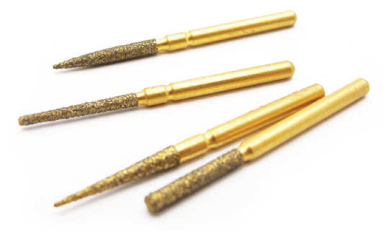 Golden diamond burs