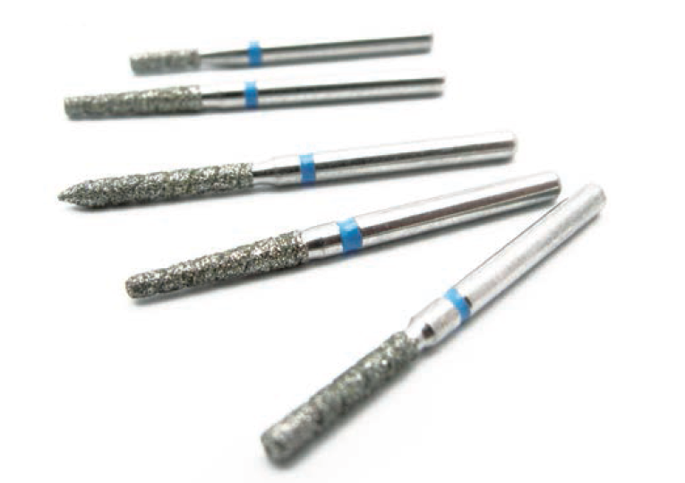 Diamond burs with groove