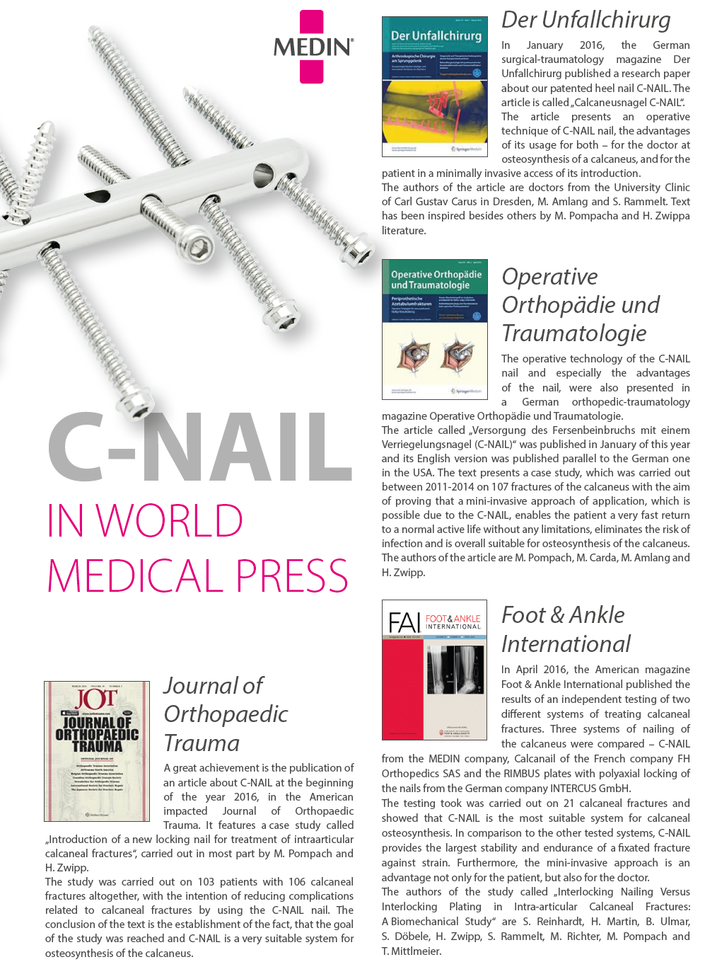 C-NAIL in world medical press